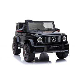 Elektrické autíčko Mercedes G, čierne, Jednomiestné sedadlo, 12V batéria, 2,4 GHz DO, 2XMOTOR, USB, SD karta, ORGINAL licencia