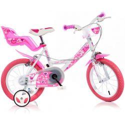 "DINO Bikes - Detský bicykel 16"" 164RN - biely 2017"