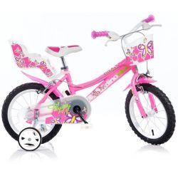 """DINO Bikes - Detský bicykel 16"""" 166R - ružový 2017"""