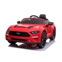 Driftovacie elektrické autíčko Ford Mustang 24V, červené, Hladké Drift kolieska, Motory: 2 x 25 000 otáčok, Drift režim s rýchlosťou 13 Km/h, 24V Batéria, LED Svetlá, predné EVA kolesá, 2,4 GHz dialkové ovládanie, Mäkké PU sedadlo, ORIGINAL licencia