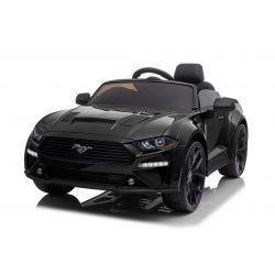 Driftovacie elektrické autíčko Ford Mustang 24V, čierne, Hladké Drift kolieska, Motory: 2 x 25 000 otáčok, Drift režim s rýchlosťou 13 Km/h, 24V Batéria, LED Svetlá, predné EVA kolesá, 2,4 GHz dialkové ovládanie, Mäkké PU sedadlo, ORIGINAL licencia