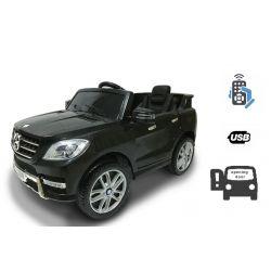 Zánovné elektrické autíčko Mercedes-Benz ML350, Plastové sedadlo, odpružené nápravy, USB/SD Vstup, Batéria 12V, 2 X MOTOR, Biele, ORGINAL licencia