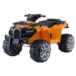 Elektrická štvorkolka ALLROAD 12V, oranžová, mäkké EVA kolesá, LED svetlá, MP3 prehrávač so vstupom USB, 2 X 12V motor, 12V7Ah batéria
