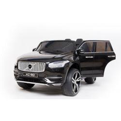 Elektrické autíčko Volvo XC90, čalúnené sedadlo, 2,4 GHz DO, kľúč, 2 X MOTOR, Dvojmiestne, čierne, USB, SD karta, ORGINAL licencia