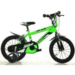 "DINO Bikes - Detský bicykel 14"" 414UZ - zelený 2017"