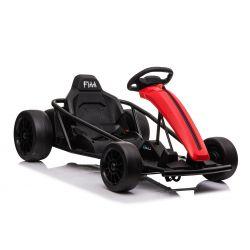 Driftovacia Motokára DRIFT-CAR 24V, Červená, Hladké Drift kolieska, 2 x 350W Motor, Drift režim s rýchlosťou 13 Km/h, 24V Batéria, Masívna konštrukcia