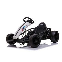 Driftovacia Motokára DRIFT-CAR 24V, Biela, Hladké Drift kolieska, 2 x 350W Motor, Drift režim s rýchlosťou 13 Km/h, 24V Batéria, Masívna konštrukcia