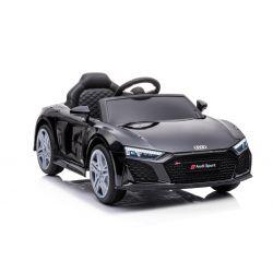 Elektrické autíčko Audi R8 Spyder nový typ, Plastové sedadlo, Plastové kolesá, USB/SD Vstup, Batéria 12V, 2 X 25W MOTOR, Čierne, ORGINAL licencia