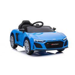 Elektrické autíčko Audi R8 Spyder nový typ, Plastové sedadlo, Plastové kolesá, USB/SD Vstup, Batéria 12V, 2 X 25W MOTOR, Modré, ORGINAL licencia