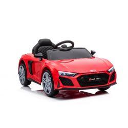 Elektrické autíčko Audi R8 Spyder nový typ, Plastové sedadlo, Plastové kolesá, USB/SD Vstup, Batéria 12V, 2 X 25W MOTOR, Červené, ORGINAL licencia