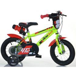"""DINO Bikes - Detský bicykel 12"""" 412US - čierno-červený 2017"""
