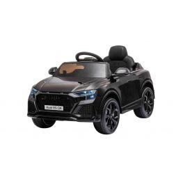 Elektrické autíčko Audi RSQ8, 12V, 2,4 GHz dialkové ovládanie, USB / SD Vstup, LED svetlá, 12V batéria, mäkké EVA kolesá, 2 X 35W MOTOR, čierna, ORIGINÁL licencia