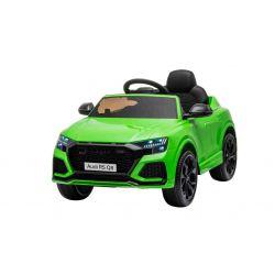 Elektrické autíčko Audi RSQ8, 12V, 2,4 GHz dialkové ovládanie, USB / SD Vstup, LED svetlá, 12V batéria, mäkké EVA kolesá, 2 X 35W MOTOR, zelená, ORIGINÁL licencia