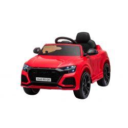 Elektrické autíčko Audi RSQ8, 12V, 2,4 GHz dialkové ovládanie, USB / SD Vstup, LED svetlá, 12V batéria, mäkké EVA kolesá, 2 X 35W MOTOR, červená, ORIGINÁL licencia