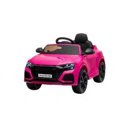 Elektrické autíčko Audi RSQ8, 12V, 2,4 GHz dialkové ovládanie, USB / SD Vstup, LED svetlá, 12V batéria, mäkké EVA kolesá, 2 X 35W MOTOR, ružová, ORIGINÁL licencia