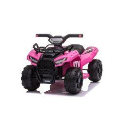 Elektrická štvorkolka MINI 6V, ružová, MP3 prehrávač so vstupom USB/AUX, 1 X 25W motor, 6V/4Ah batéria, predná svetlá