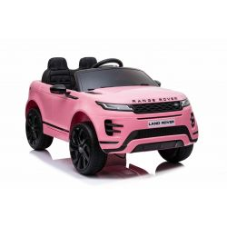 Elektrické autíčko Range Rover EVOQUE, Jednomiestne, ružové, Kožené sedadlá, MP3 Prehrávač s prípojkou USB/SD, Pohon 4x4, Batéria 12V10AH, EVA kolesá, Odpružené nápravy, Kľúčové trojpolohové štartovanie, 2,4 GHz Bluetooth Dialkový Ovládač, Licencia