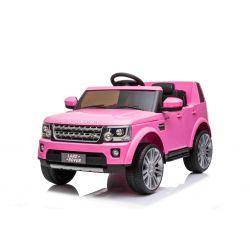 Elektrické autíčko Land Rover Discovery, 12V, 2,4 GHz dialkové ovládanie, USB / AUX Vstup, odpruženie, otváravé dvere a kapota, 2 X 35W MOTOR, ružová, ORIGINAL licencia