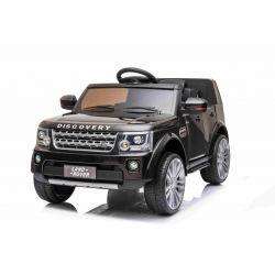 Elektrické autíčko Land Rover Discovery, 12V, 2,4 GHz dialkové ovládanie, USB / AUX Vstup, odpruženie, otváravé dvere a kapota, 2 X 35W MOTOR, čierna, ORIGINAL licencia