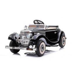 Elektrické autíčko Mercedes-Benz 540K 4x4 čierne, Lokálne ovládanie na volante pre dospelého, Pohon 4x4, 12V14AH Batéria, EVA kolesá, Čalúnené sedadlo, 2,4 GHz DO, MP3 Prehrávač, USB, Bluetooth, Originál licencia