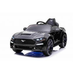 Zánovné elektrické autíčko Ford Mustang 24V, čierne, Mäkké EVA kolesá, Motory: 2 x 16 000 otáčok, 24V Batéria, LED Svetlá, Podsvietenie kolies a podvozku, 2,4 GHz dialkové ovládanie, MP3 Prehrávač, ORIGINAL licencia