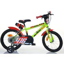 """DINO Bikes - Detský bicykel 16"""" 416US - čierno-červený 2017"""