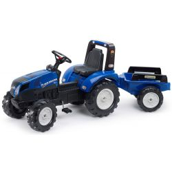 FALK Šliapací traktor 3090B New Holland T8 s vlečkou