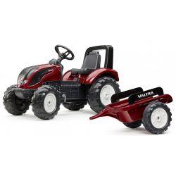 FALK Šliapací traktor 4000AB VALTRA S4 s vlečkou