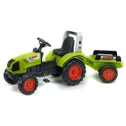 FALK Šliapací traktor 1040AB Claas Arion 430 s vlečkou