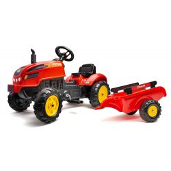FALK Šliapací traktor 2046AB X-Tractor s vlečkou a otváracou kapotou