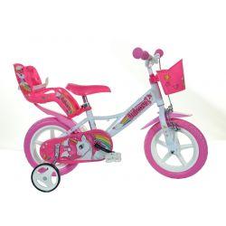 "DINO Bikes - Zánovný Detský bicykel 12"" 124RLUN Jednorožec 2019"