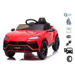 Elektrické autíčko Lamborghini Urus, 12V, 2,4 GHz dialkové ovládanie, USB / SD Vstup, odpruženie, otváravé dvere, mäkké EVA kolesá, 2 X MOTOR, červené, ORIGINAL licencia
