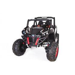 Elektrické autíčko NEW RSX Čierny, Pohon 4x4, 2x12V, EVA kolesá, široké dvojmiestne sedadlo, Kľúč na štartovanie, 2,4 GHz DO, 4 X MOTOR, Dvojmiestne, USB, SD karta