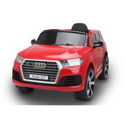 Zánovné Elektrické autíčko Audi Q7, červená, EVA kolesá, Jednomiestne sedadlo, 12V, 2,4 GHz DO, 2XMOTOR, USB, SD karta, ORIGINAL licencia