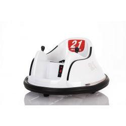 Detské elektrické vozidlo RIRIDRIVE 12V biele, vhodné na vnútorné aj vonkajšie použitie, 2,4 Ghz Diaľkové ovládanie, LED osvetlenie, Ovláadanie Joystickom, 2 X 15W motor