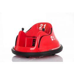 Detské elektrické vozidlo RIRIDRIVE 12V červené, vhodné na vnútorné aj vonkajšie použitie, 2,4 Ghz Diaľkové ovládanie, LED osvetlenie, Ovláadanie Joystickom, 2 X 15W motor