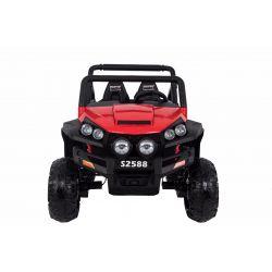 Elektrické autíčko RSX Červené, Pohon 4x4, 2x12V, EVA kolesá, široké dvojmiestne čalúnené sedadlo, 2,4 GHz DO, 4 X MOTOR, Dvojmiestne, FM Radio, Bluetooth