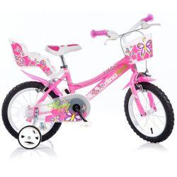 """DINO Bikes - Detský bicykel 14"""" 146R - ružový 2017"""
