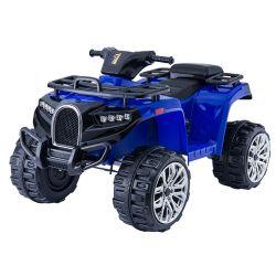 Elektrická štvorkolka ALLROAD 12V, modra, mäkké EVA kolesá, LED svetlá, MP3 prehrávač so vstupom USB, 2 X 12V motor, 12V7Ah batéria