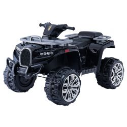 Elektrická štvorkolka ALLROAD 12V, čierna, mäkké EVA kolesá, LED svetlá, MP3 prehrávač so vstupom USB, 2 X 12V motor, 12V7Ah batéria