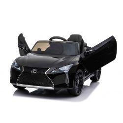 Elektrické autíčko Lexus LC500, 12V, 2,4 GHz dialkové ovládanie, USB / SD Vstup, odpruženie, otváravé dvere smerom hore, 2 X MOTOR, čierne, ORIGINAL licencia