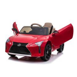 Elektrické autíčko Lexus LC500, 12V, 2,4 GHz dialkové ovládanie, USB / SD Vstup, odpruženie, otváravé dvere smerom hore, 2 X MOTOR, červené, ORIGINAL licencia