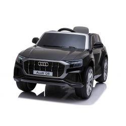 Elektrické autíčko Audi Q8, 12V, 2,4 GHz dialkové ovládanie, USB / SD Vstup, LED svetlá, 12V batéria, mäkké EVA kolesá, 2 X MOTOR, čierne, ORIGINÁL licencia