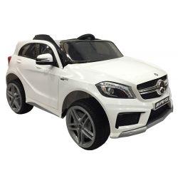 Elektrické autíčko Mercedes-Benz A 45 AMG, odpružené, 12V, 2,4 GHz dialkové ovládanie, otváravé dvere, 2 X MOTOR, biele, ORGINAL licencia