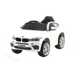 Elektrické autíčko BMW X6M NEW – JEDNOMIESTNE, biele, EVA kolesá, kožené sedadlo, 12V, 2,4 GHz DO, 2XMOTOR, USB, SD karta, ORGINAL licencia