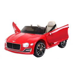 Elektrické autíčko Bentley EXP 12 Prototyp, 12V, 2,4 GHz dálkové ovládání, otvíravé dveře, EVA kola, kožené sedadlo, 2 X MOTOR, červené lakované, ORGINAL licence