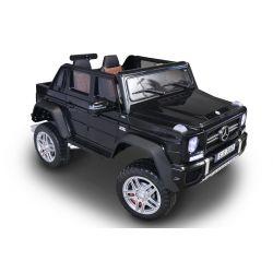 Elektrické autíčko Mercedes-Benz Maybach G650, čierne, LCD obrazovka, Pohon 4x4, 2x 12V7AH, EVA kolesá, Čalúnené sedadlo, 2,4 GHz DO, 4 X MOTOR, Dvojmiestne