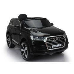 Elektrické autíčko Audi Q7, čierne, EVA kolesá, Jednomiestne sedadlo, 12V, 2,4 GHz DO, 2XMOTOR, USB, SD karta, ORGINAL licencia