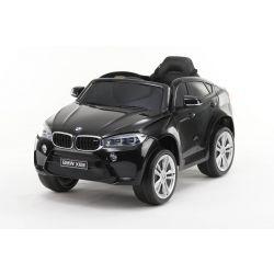 Elektrické autíčko BMW X6M NEW – JEDNOMIESTNE, čierne lakované, EVA kolesá, kožené sedadlo, 12V, 2,4 GHz DO, 2XMOTOR, USB, SD karta, ORGINAL licencia