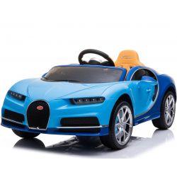 Elektrické autíčko Bugatti Chiron, 12V, 2,4 GHz dialkové ovládanie, otváravé dvere, EVA kolesá, kožené sedadlo, 2 X MOTOR, modré, ORGINAL licencia